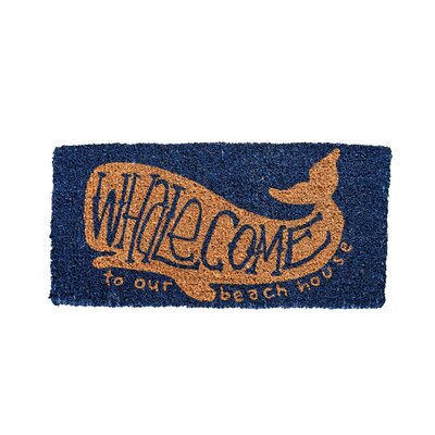 Anselmo Whalecome Natural Coir Doormat