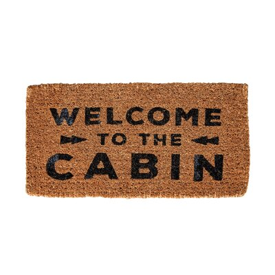 Corr�ze Welcome to the Cabin Natural Coir Doormat