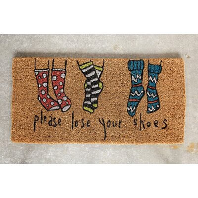 Chao Please Lose Your Shoes Natural Coir Doormat