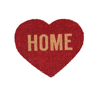 Rubina Home Heart Natural Coir Doormat