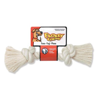 "Mammoth Pet Products Rope Bone Dog Toy in White - Size: Mini (6"" H) at Sears.com"