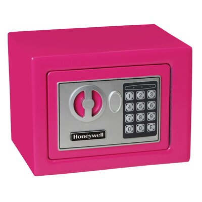 0.17 Cubic Feet Digital Lock Steel Security Safe Finish: Pink