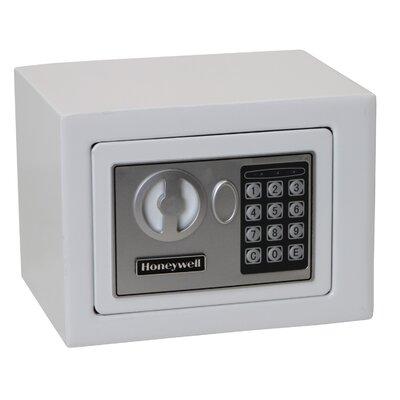 0.17 Cubic Feet Digital Lock Steel Security Safe Finish: White