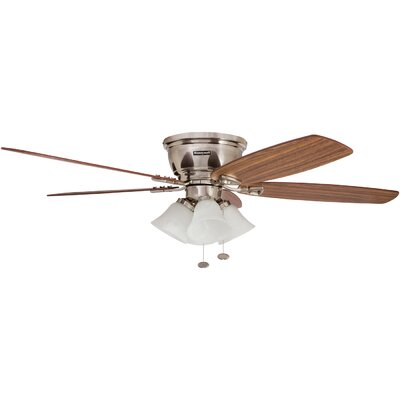 52 Glen Alden 5 Blade Hugger Ceiling Fan Motor Finish: Brushed Nickel