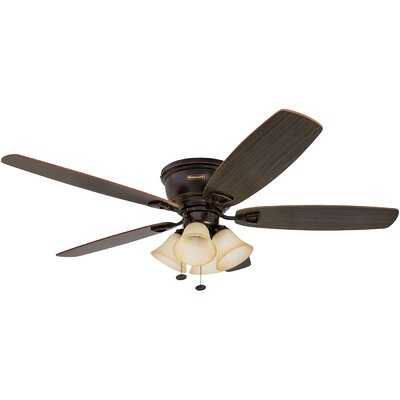 52 Glen Alden 5 Blade Hugger Ceiling Fan Motor Finish: Oil Rubbed Bronze