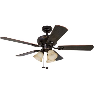 44 Springhill 5 Blade Ceiling Fan Motor Finish: Oil Rubbed Bronze