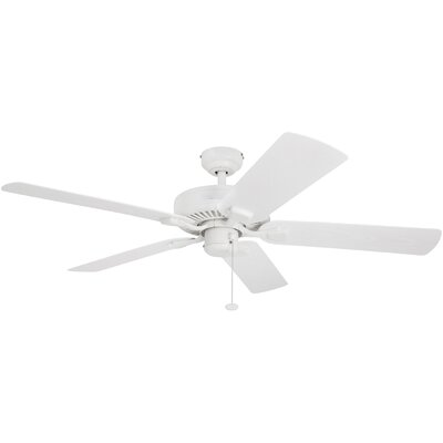52 Belmar 5 Blade Outdoor Ceiling Fan Finish: White with White Blades