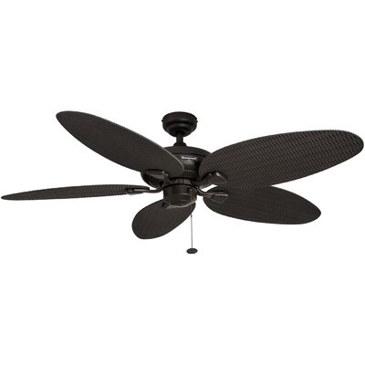 52 Duval 5 Blade Outdoor Ceiling Fan Finish: Bronze with Bronze Blades