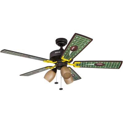 48 Touchdown Matte 5 Blade Ceiling Fan