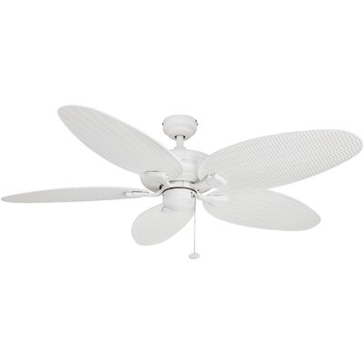 52 Duval 5 Blade Outdoor Ceiling Fan Finish: White with White Blades