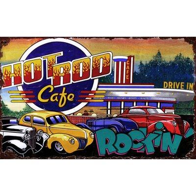 Hot Rod Cafe Vintage Advertisement Plaque PP-1163S