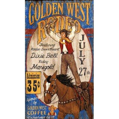 Golden West Vintage Advertisement Plaque PP-1160