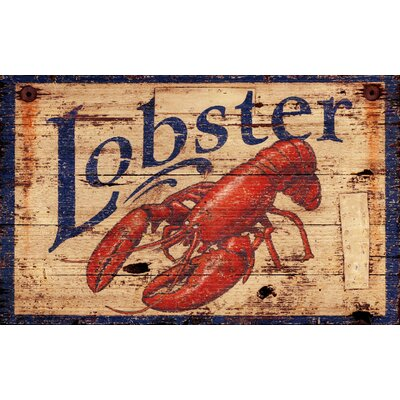 'Lobster' Vintage Advertisement Plaque