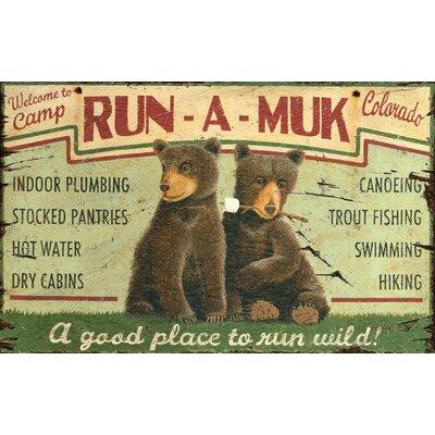 Run A Muk Vintage Advertisement Plaque PP-1317