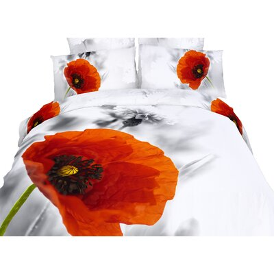 Poppies 6 Piece Duvet Cover Set Size: King