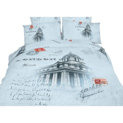 Novelty London Duvet Cover Set Size: King