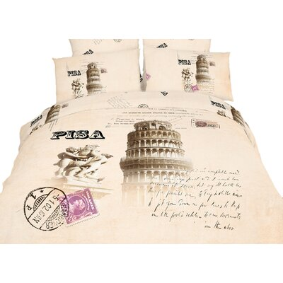 Novelty Pisa Duvet Cover Set Size: King