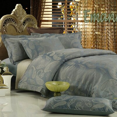 Dolce Mela Emanuela 6 Piece Duvet Cover Set Size: Queen