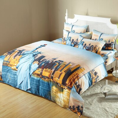 Statue of Liberty Duvet Cover Set Size: Queen