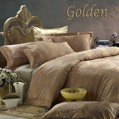 Dolce Mela Golden Age 6 Piece Duvet Cover Set Size: King