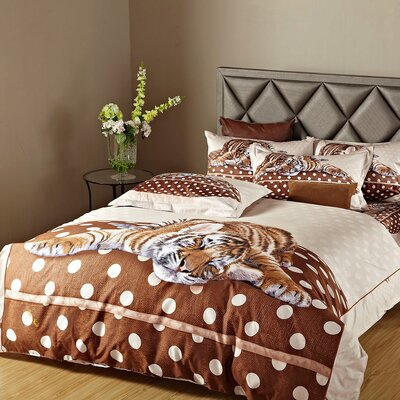 Sleepy Tiger Duvet Cover Set Size: Twin