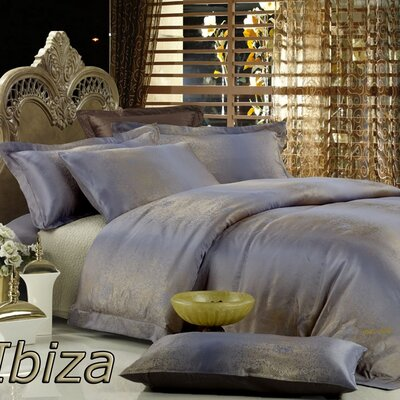 Dolce Mela Ibiza 6 Piece Duvet Cover Set Size: King