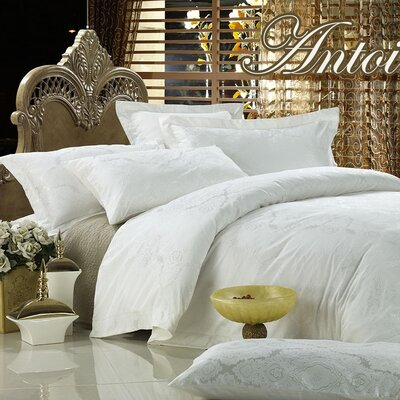 Dolce Mela Antoinette 6 Piece Duvet Cover Set Size: King