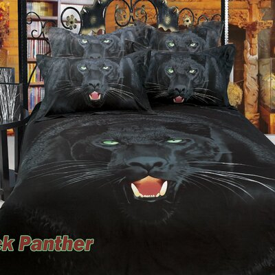 Black Panther Cotton 6 Piece Duvet Cover Set Size: Full/Queen