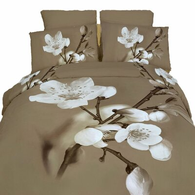 Delicato 6 Pieces Reversible Duvet Cover Set Size: King