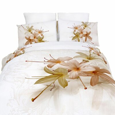 Innocenza 6 Pieces Reversible Duvet Cover Set Size: King