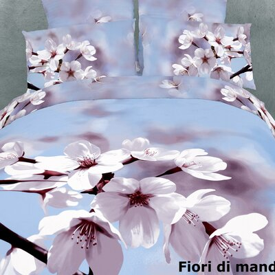 Dolce Mela Fiori Di Mandorla 6 Piece King Duvet Cover Set