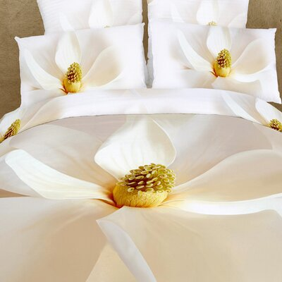 Magnolia 6 Piece Reversible Duvet Cover Set Size: Full / Queen
