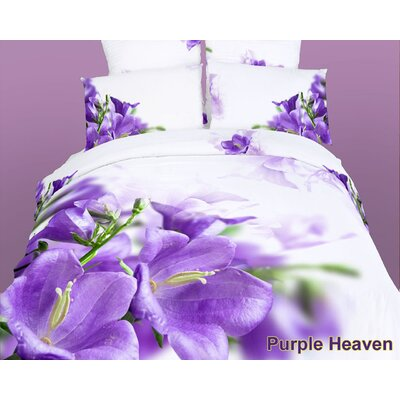 Dolce Mela Purple Heaven 6 Piece Duvet Cover Set Size: King