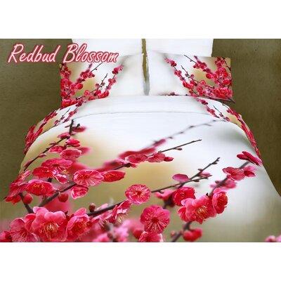 Dolce Mela Redbud Blossom 6 Piece Duvet Cover Set Size: Queen