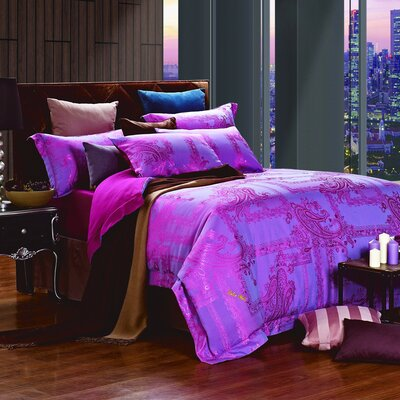 Dolce Mela 6 Piece Reversible Duvet Cover Set Size: King, Color: Cliodna