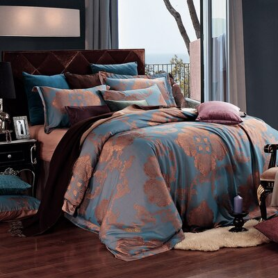 Dolce Mela 6 Piece Reversible Duvet Set Size: King