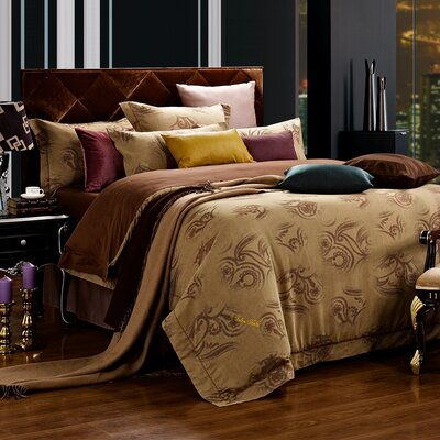 Dolce Mela 6 Piece Duvet Set Size: Queen