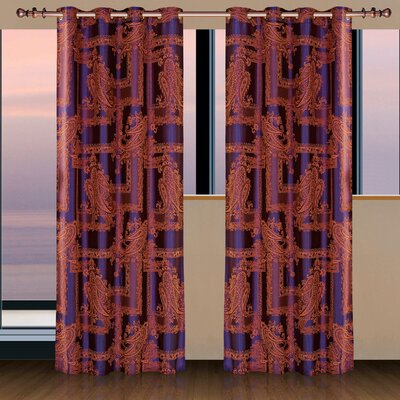 Dolce Mela Cliodna Cotton Grommet Drapes Curtain Single Panel - Color: Calypso at Sears.com