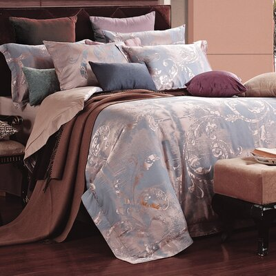 Dolce Mela 6 Piece Reversible Duvet Set Size: Queen