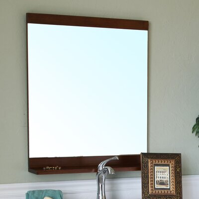 Chapman Bathroom Mirror Finish: Medium Walnut