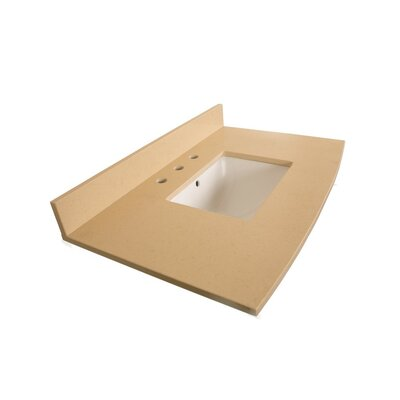 36 Single Bathroom Vanity Top Top Finish: Beige Quartz
