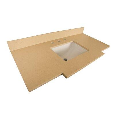 Counter 45 Single Bathroom Vanity Top Top Finish: Beige Quartz