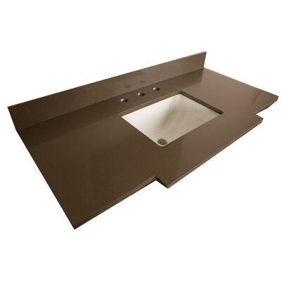 Counter 45 Single Bathroom Vanity Top Top Finish: Gray Quartz
