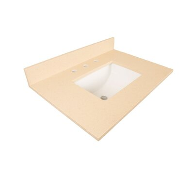 Counter 30 Single Bathroom Vanity Top Top Finish: Beige Quartz