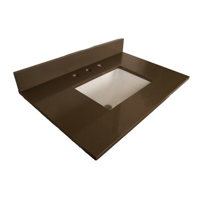 Counter 32 Single Bathroom Vanity Top Top Finish: Gray Quartz