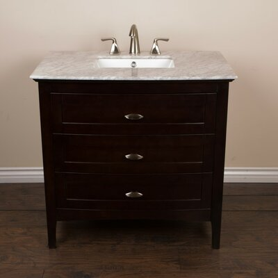 35 Single Bathroom Vanity Base Base Finish: Sable Walnut
