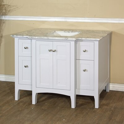 44 Single Bathroom Vanity Base Base Finish: White