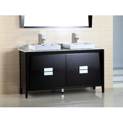 60 Double Sink Vanity Set