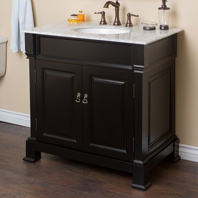 36 Single Sink Vanity Set Base Finish: Espresso