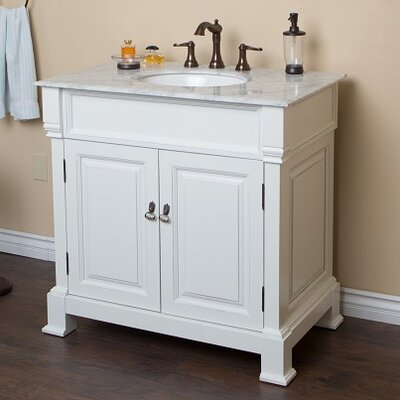 36 Single Sink Vanity Set Base Finish: White